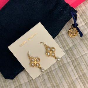 NWT‼️ Tory Burch pearl earrings.